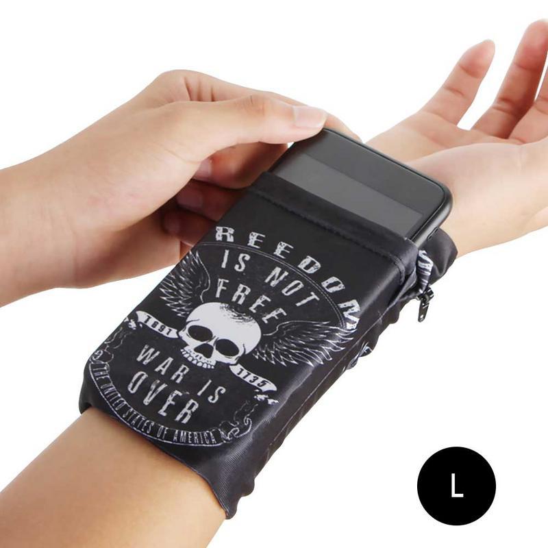 New Men Women Sports Mobile Phone Arm Bag Running Hand Bag Wrist Bag Double Side Wrist Wallet Pouch Wrist Support Pocket