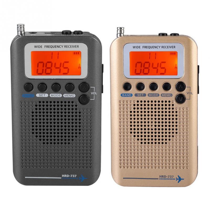 Aircraft Band Radio Receiver VHF Portable Full Band Radio Recorder for AIR FM AM CB VHF