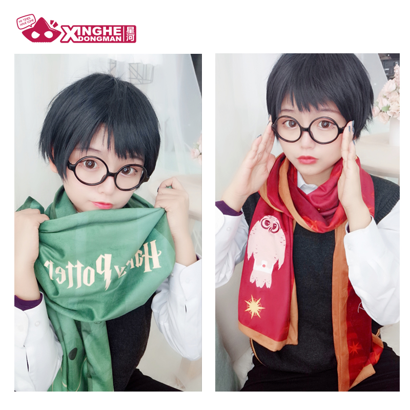 Milky Way Anime Harri Slytherin Scarf Gryffindor Towel Green Red Unisex Velvet Cute Velvet Scarf Girl Gift 190CM