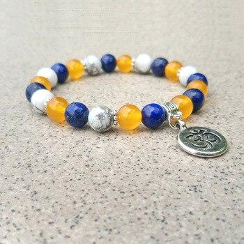 Bracelet Agate Bleue Citrine
