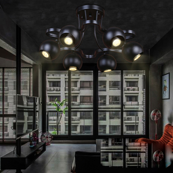 LED Loft Iron Rotatable LED Lamp.LED Light.Ceiling Lights.LED Ceiling Light.Ceiling Lamp For Bar Store Restaurant