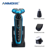 ANIMORE Men Washable Rechargeable Electric Shaver Electric Shaving Beard Machine Razor Rechargeable