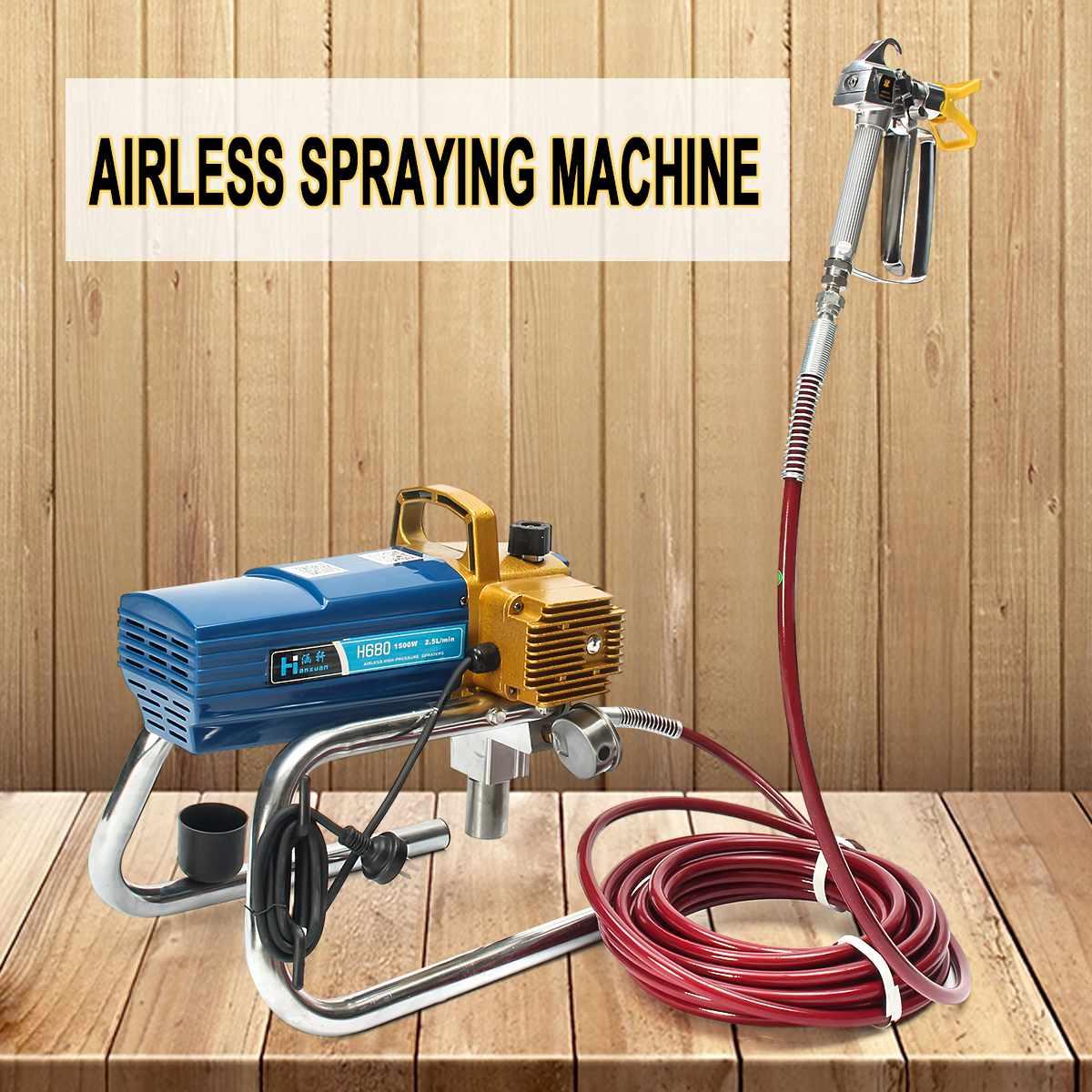 H680 Alta-pressão Airless Airless Spray De Pintura Aerógrafo Pulverizador 1500 W 220 V Gu n Para A Arte Da Pintura Auto ferramenta de reparo