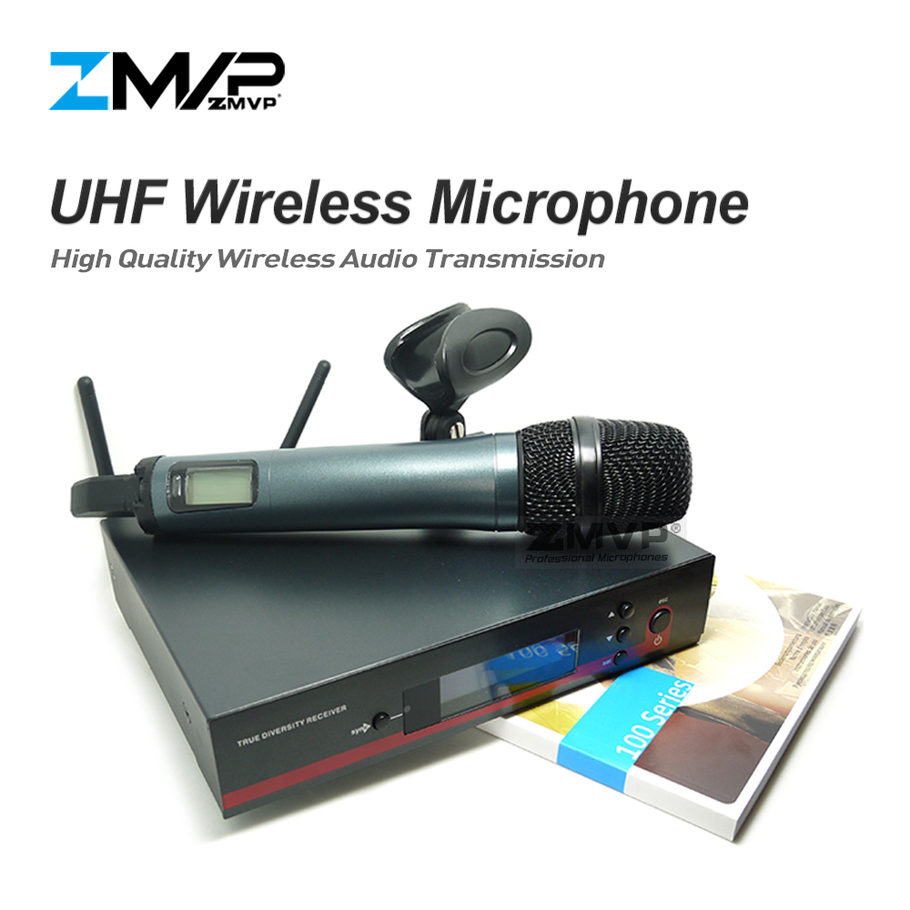 ZMVP Professional 135 G3 UHF Wireless Microphone Karaoke System with Handhold Wireless Transmitter for Live Vocals Speech Stage zmvp p24 m58 uhf professional wireless microphone system with m58 handheld transmitter mic for stage live vocals karaoke speech