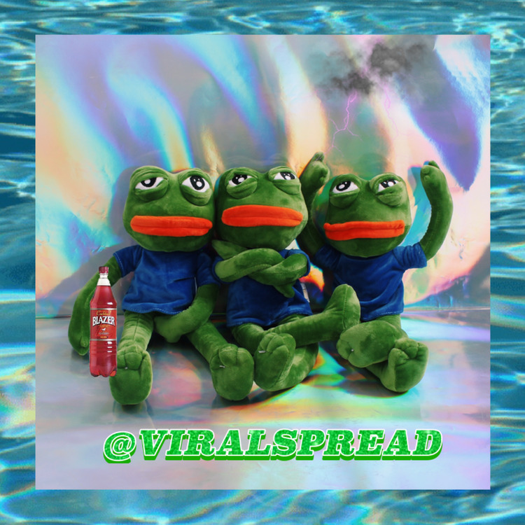 <font><b>Viral</b></font> Spread One Frog I Drink Wine Drunk Sadness Frog Doll Sad Frog Lint Toys image