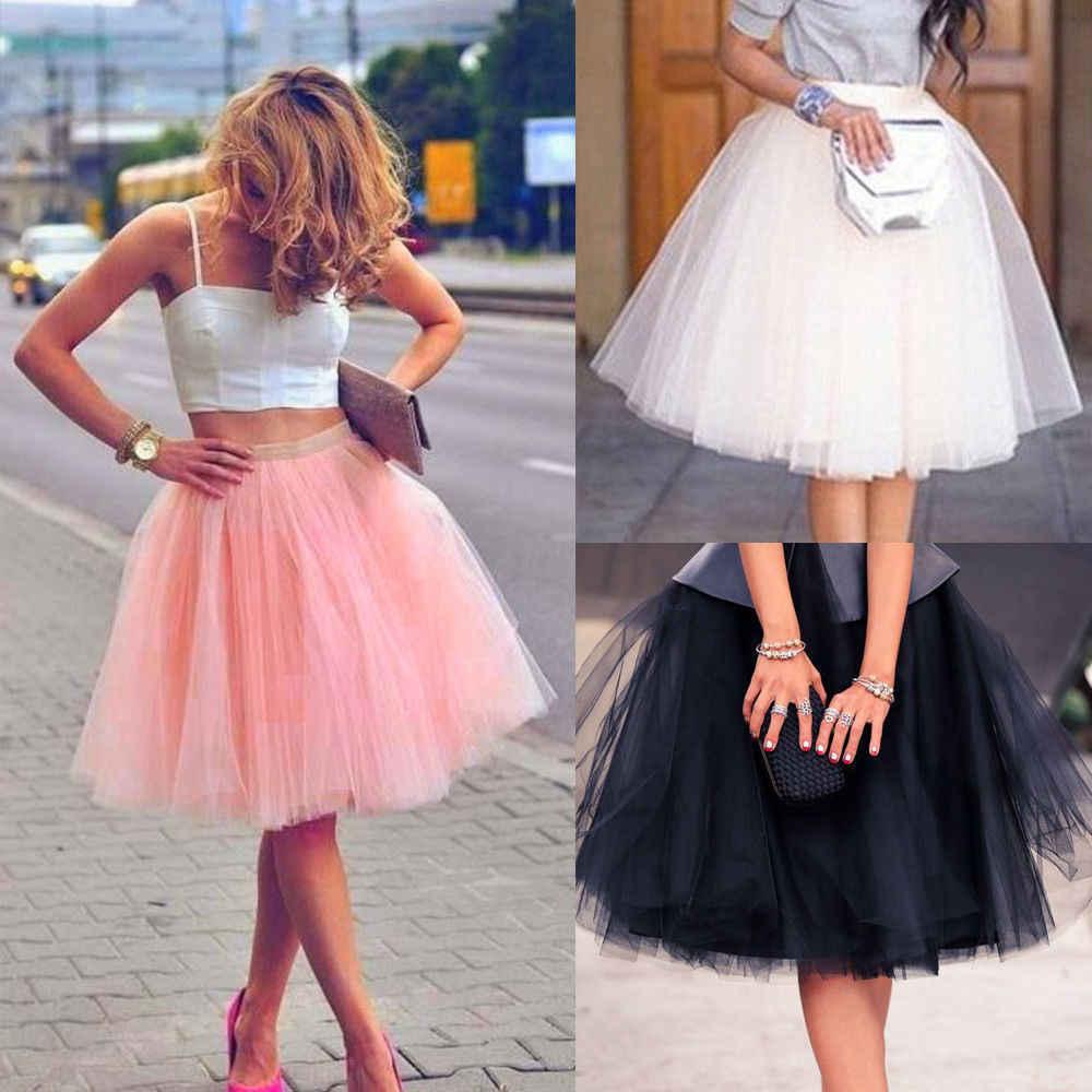 cfd58fa401 Fashion Women Adult Layers Tulle Skirt Half Princess Girls Ballet Tutu  Dance Skirt Ball Gown Partywear