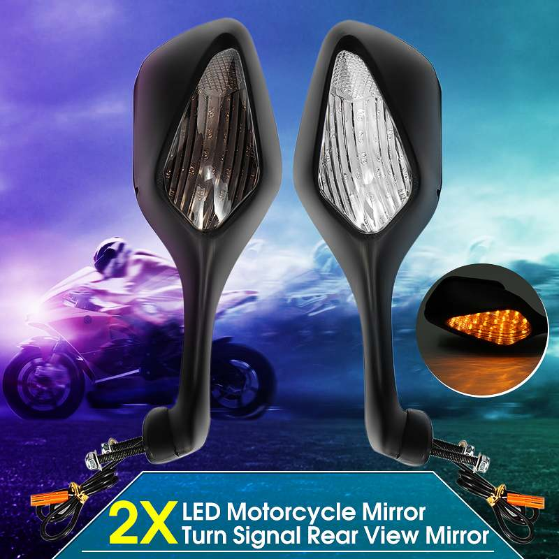 Motorcycle Rearview Side Mirrors With LED Turn Signal Light Lamp For Honda CBR1000RR CBR 1000 RR 2008-2013 ABS Rear View Mirrors