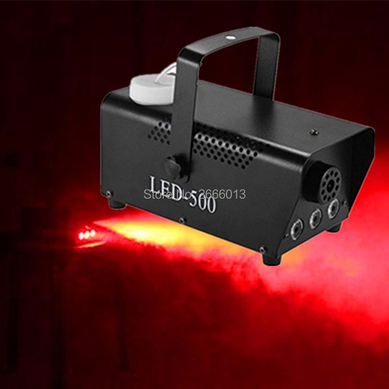 Trend Mark Red Color Wireless Remote Led 500w Smoke Machine/500w Led Fog Machine/fogger With 3pcs Red Led Lights For Wedding Party Disco Dj Commercial Lighting