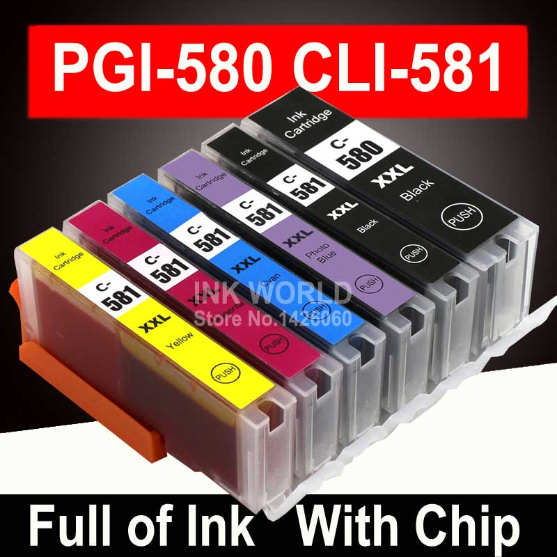 For Canon Pixma TR7550 TR8550 TS6150 TS6151 TS8150 Printer Ink Cartridge PGI-580 XL CLI-581 PGI580