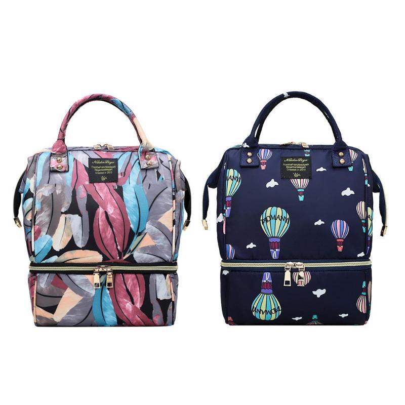 Waterproof Mummy Maternity Printed Diaper Bag Large Nursing Travel Backpack