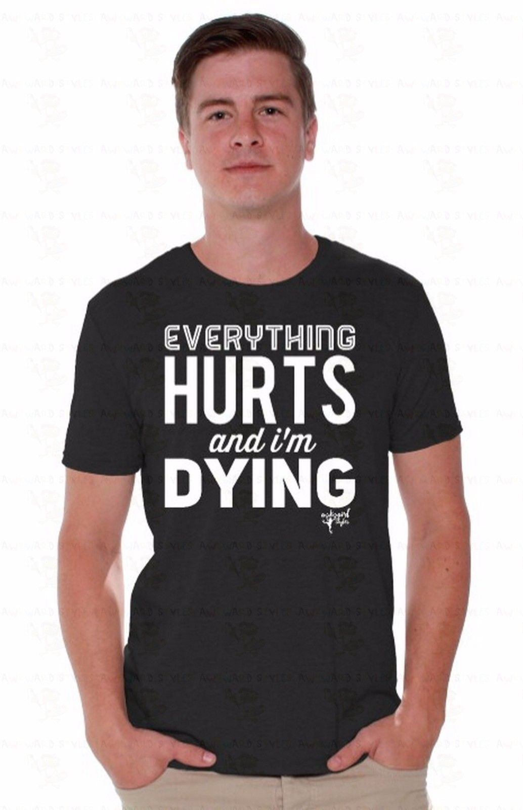 Top Quality T Shirts O Neck O Neck Men Everything Hurts And I 39 M Dying Knope Mens Saying Leslie A6 Short Sleeve Fashion T Shirts in T Shirts from Men 39 s Clothing