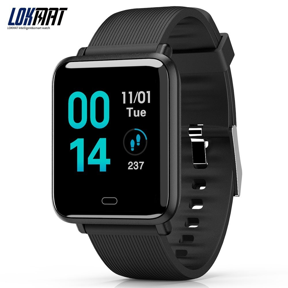 LOKMAT Smart Watch Men Bluetooth Ip67 Life Waterproof Sport Pedometer Heart Rate Monitor Support SMS Reminder