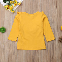 Baby Girls Cotton Long Sleeve T-shirt 0-5Year