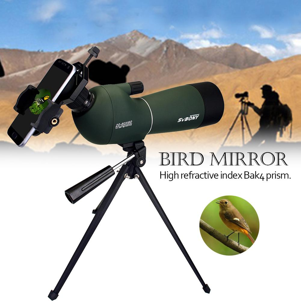 SV28 60mm Spotting Scope Zoom Telescope Waterproof Birdwatch Hunting Monocular Universal Phone Adapter Mount