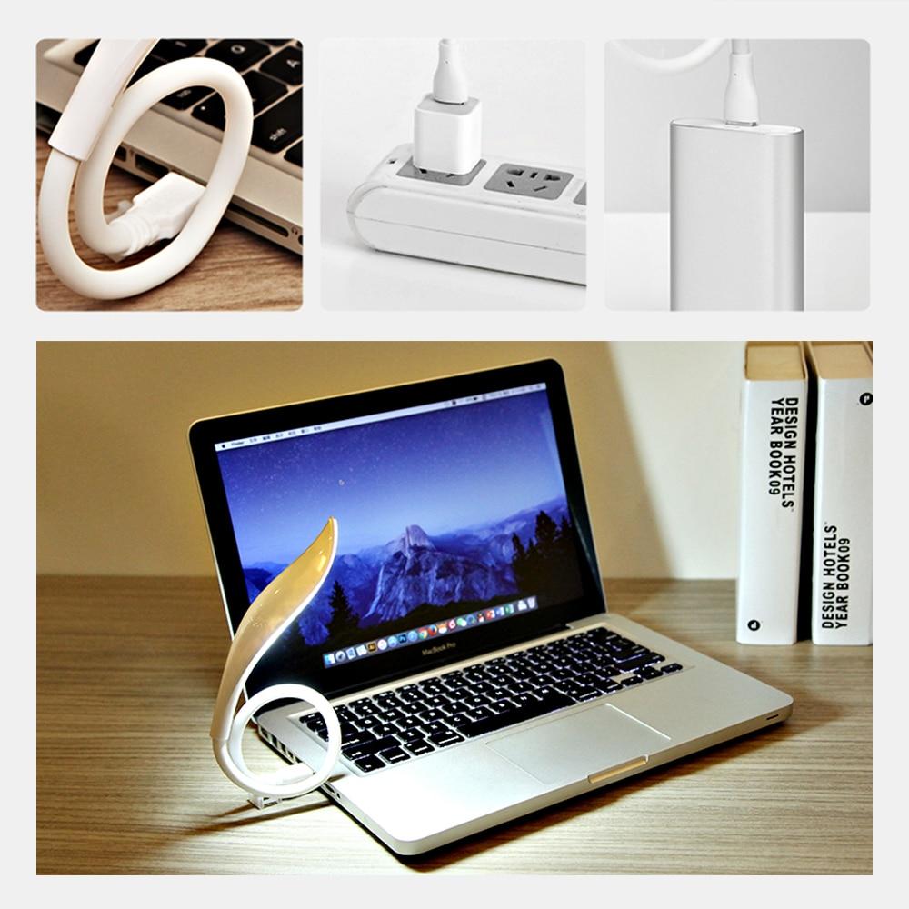 White Flexible USB 14 LED Lamp Light Torch for Laptop Computer Mac Desk /& Table