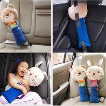 Bonito animal cinta de assento do carro cinto capa boneca brinquedo almofada almofada almofada almofada ajustável para crianças