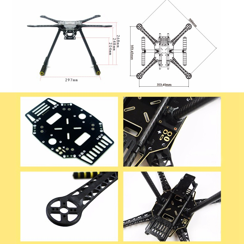 Image 5 - S520 S600 Frame Kit with Landing Gear Skid Super Hard Arm 4 Axis Rack Quadcopter F450 Frame Upgraded for RC FPV Drone-in Drone Accessories Kits from Consumer Electronics