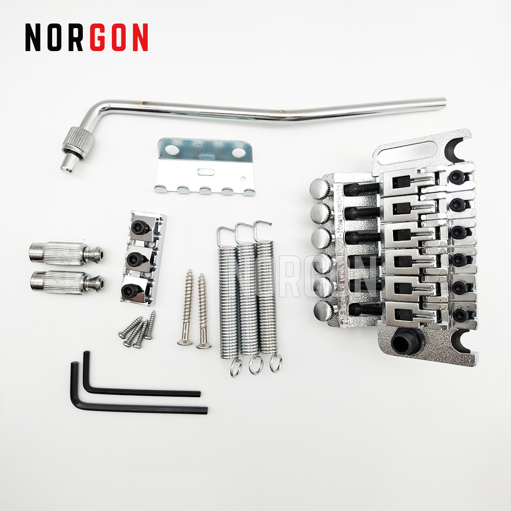 Norgon Electric Guitar Bridge Double Locking Tremolo System Pulled Guitar Parts and Accessories Whammy Bar Swing
