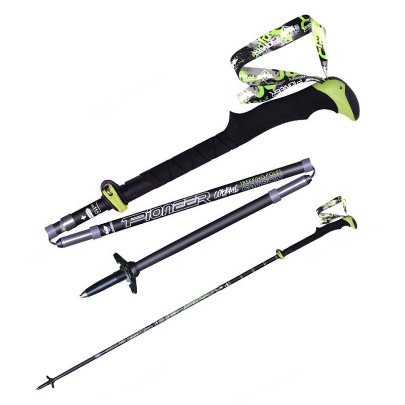 Nouveau Pliable Cinq-Fold Trekking Randonnée Bâtons De Ski En Fiber De Carbone Léger Pliage Z En Forme de Bâton de Marche
