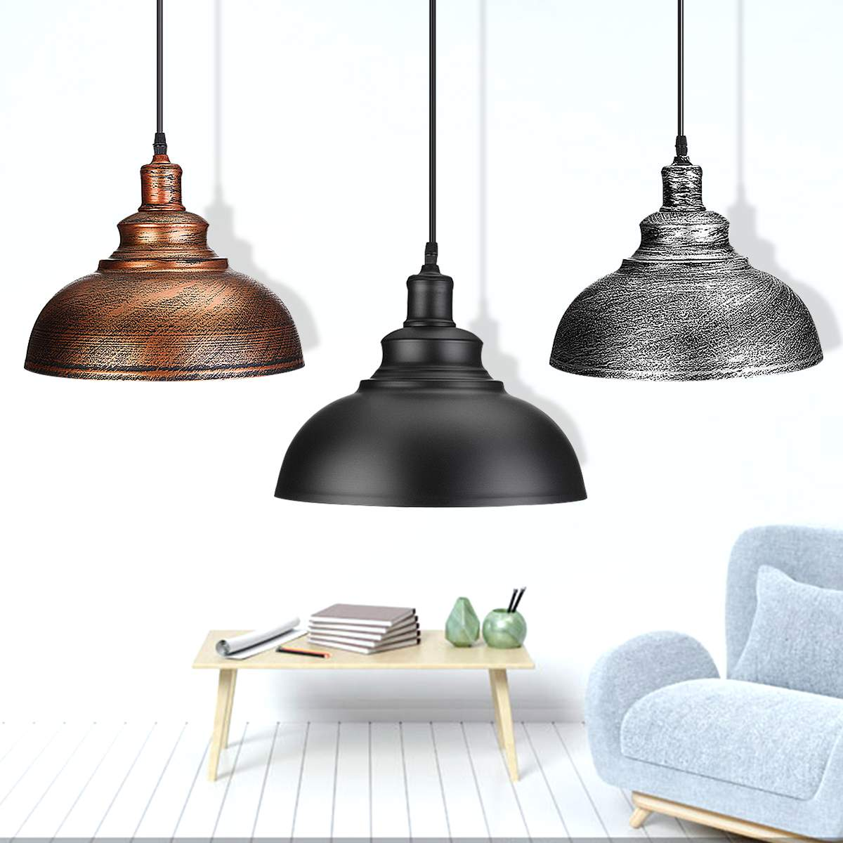 Modern 3 Style Pendant Lights Hanging E27 Edison Bulb Night Lamp Fixture Loft Bar Living Room Home Decor Novelty Lighting