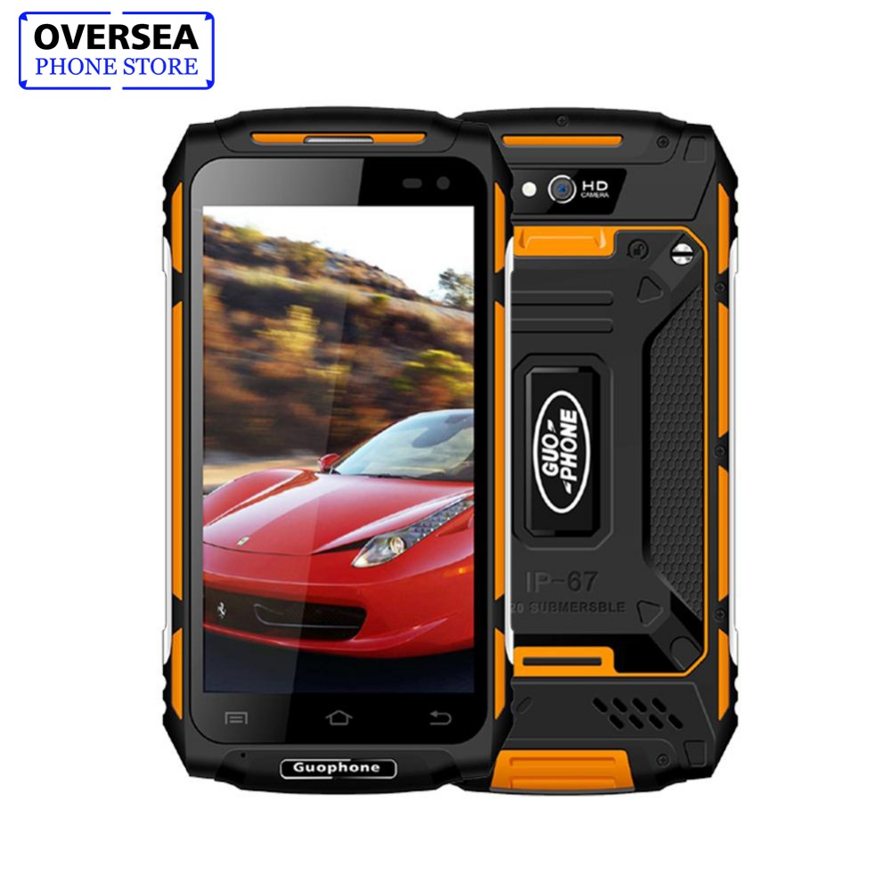 "Guophone X2 IP67 Водонепроницаемый 5,0 ""HD 4 г 4 ядра телефон 2 ГБ + 16 ГБ Android 6,0 8MP gps 5500 мАч смартфон Быстрый Зарядное устройство телефона"