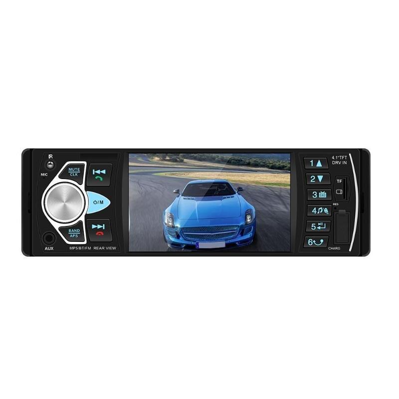 VODOOL 4.1in ISO fiche universelle Bluetooth Voiture Stéréo MP5 Lecteur Tête Unité Radio FM USB/AUX avec caméra haute définition