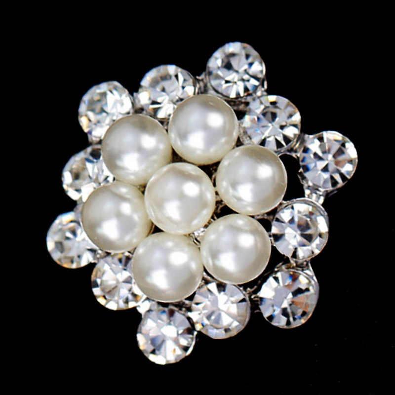 Sciarpa Spilla di Cristallo Elegante Fiore Spille Delle Donne di Modo di Cerimonia Nuziale della perla