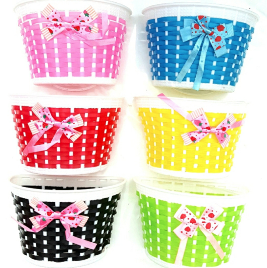 Bicycle Basket Front Bag Rear Hanging Panniers Bike Bowknot For Children Girl cycling