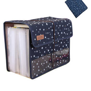 New Cute Portable Expandable Accordion 12 Pockets A4 File Folder Oxford Expanding Document Briefcase