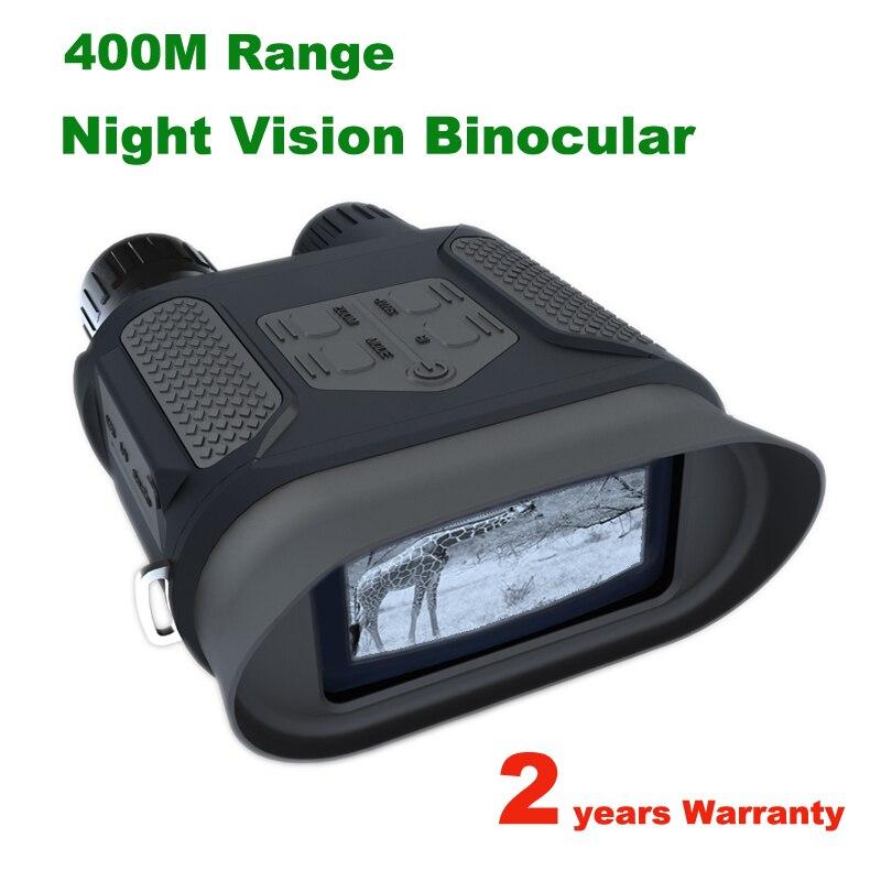 Wildgameplus NV400B visión nocturna Digital Binocular 640P cámaras de juego de vigilancia de Vida Silvestre 7x31 Zoom telescopio noche cazador