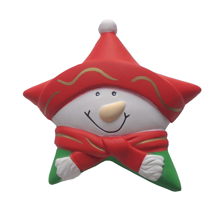 Industrious Snowman Stars Squish Squeeze Toys Stress Relief Toy Children Christmas Gifts Party Decoration Collection 12.5cm Pu Foam Fashionable Style; In