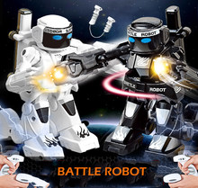 RC Battle Robot 777-615 Remote Control RC Fighting Robot Boxing Robot Toy For Children RC Intelligent 2.4g Parent-Child Fighting(China)