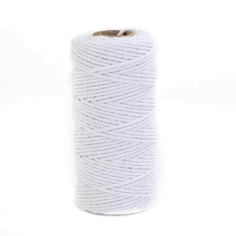 حبل خيش طبيعي عتيق من القنب بطول 100 متر/رول خيط لف أسلاك خيوط ربط يدوية الصنع حبل مكرامية