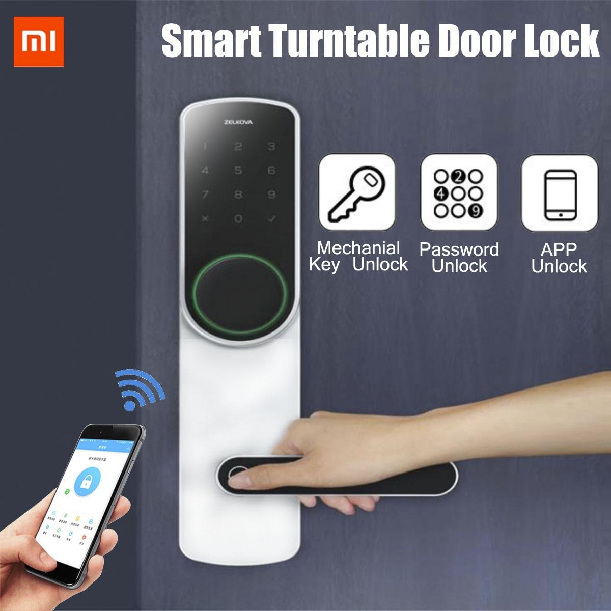 Xiaomi Zelkova Original Smart tourne-disque serrure de porte empreinte digitale mot de passe serrure de sécurité intelligente sans clé