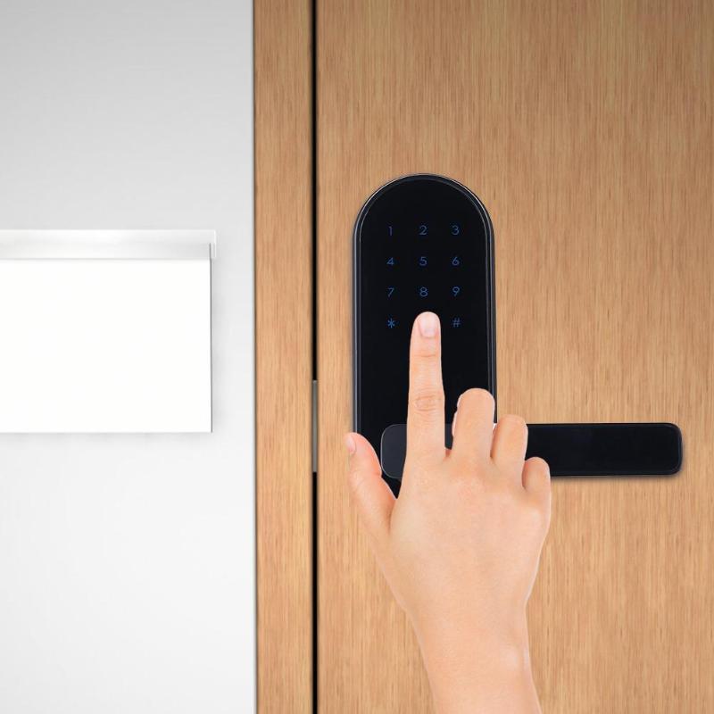 Écran tactile mot de passe électronique serrure de porte intelligente en alliage de Zinc Anti-vol sécurité poignée de porte clé + mot de passe + cadenas à carte IC