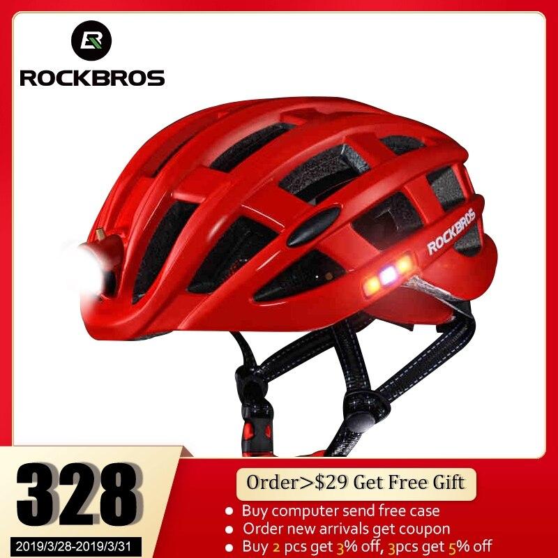 ROCKBROS Vélo Casque Vélo Ultra-Léger Casque Avec Léger Moulée Intégralement Montagne vélo de route Casque Sûr homme femme 49-62 cm