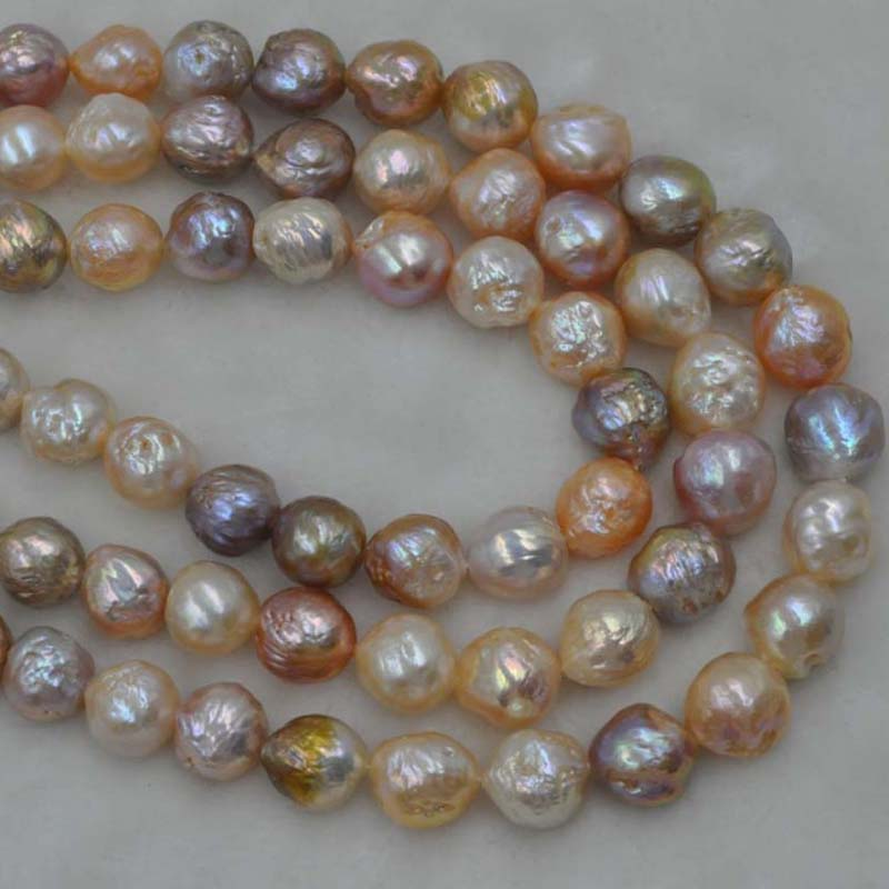 GORGEOUS 1 Strand 11 14mm Natural Furrow Kasumi Multicolor pearl