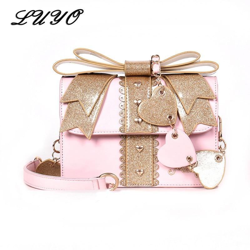 Lolita Bow Box Shoulder Bag 1