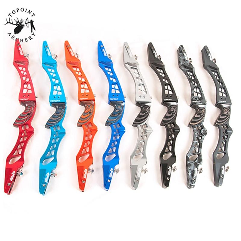 6 couleur Arc Classique Riser pour R/L Main 25 Pouces En Aluminium alliage 6061-T6 Même Couleur En Bois Poignée pour arc Tir À L'arc Chasse Tir