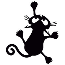 цена на 12*14CM Cat Silhouette Vinyl Decal Stickers Bumper Car Styling Decoration Rear Window Car Sticker