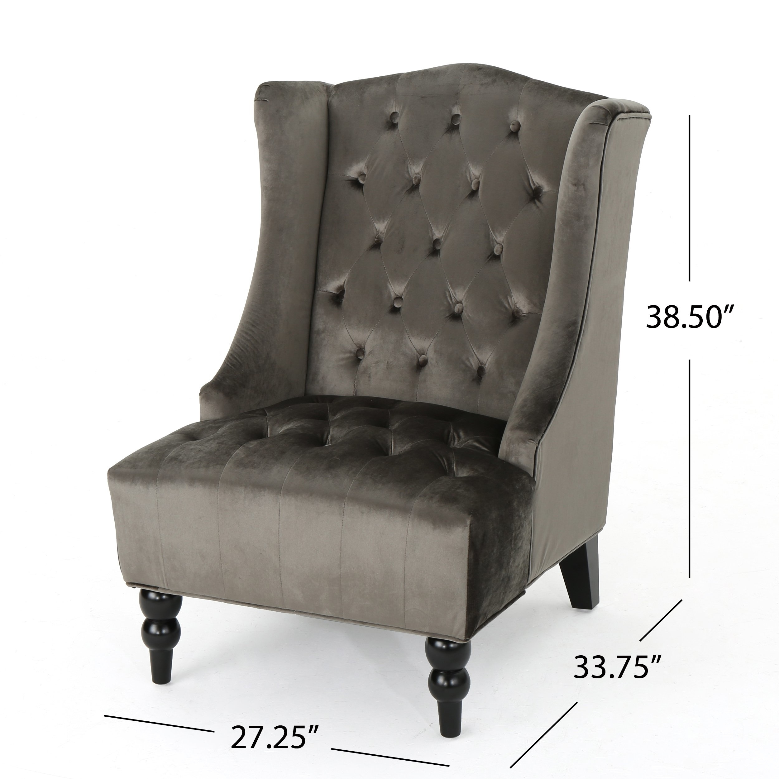 Tufted High Back Chair Us 172 38 Talisa Winged High Back Tufted New Velvet Club Chair In Living Room Chairs From Furniture On Aliexpress Alibaba Group