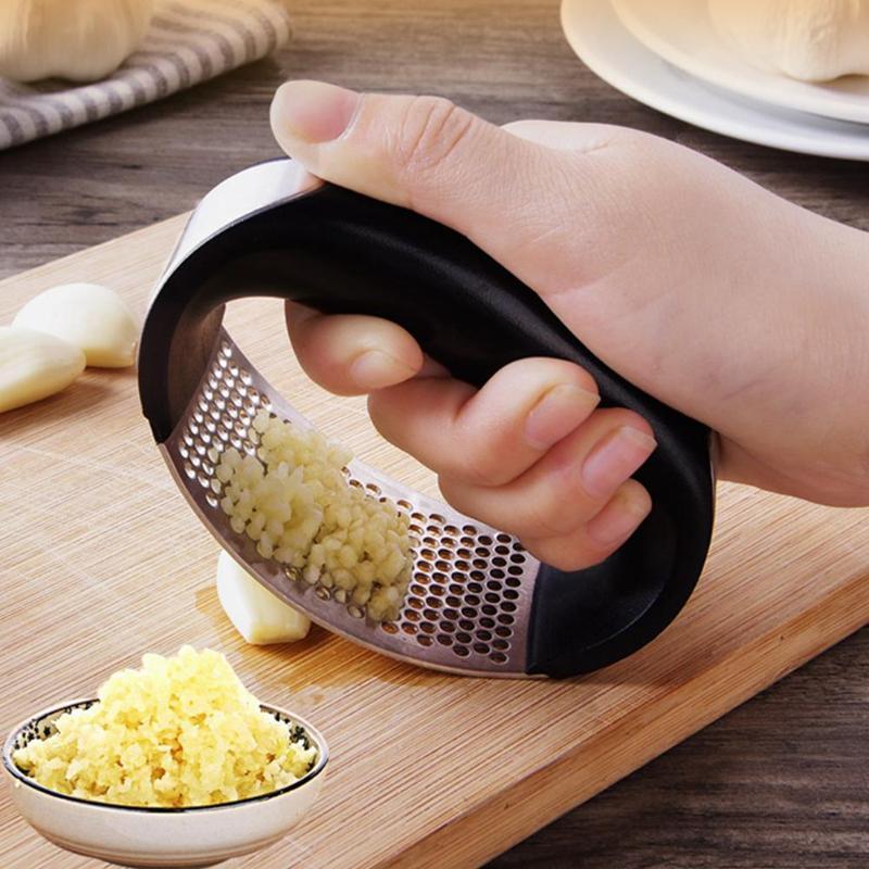 1PC acier inoxydable ail Presser manuel ail hachoir hacher ail outils courbe fruits légumes outils cuisine Gadgets