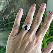 925 sliver Ruby jewelry Diamond Ring Anillos Bizuteria Jade topaz for Women S925 red Jewelry ring Gemstone