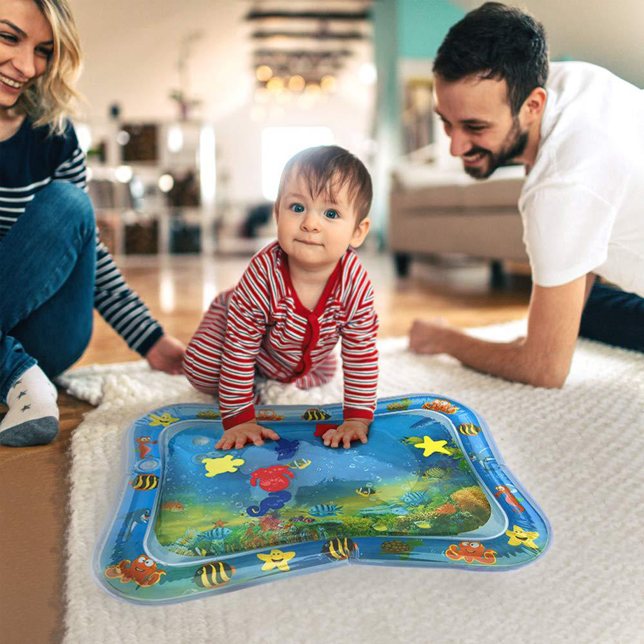 Baby Kids Water Play Mat Inflatable Thicken Pvc Infant