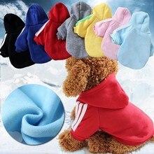 AHUAPET для щенков, одежда щенков Костюмы своего померанского шпица Moleton Cachorro Adidogs собака Bluza халат куртки с капюшоном модные домашние пальто и пуховики