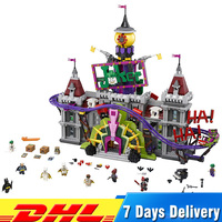 LEPIN 07090 3857Pcs Super Hero The Joker`s Manor Set LegoINGlys 70922 Model Building Blocks Bricks Toys for Children Gifts