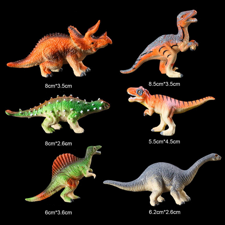 Crianças dos miúdos 24pcs Mini Simulação Dinossauro Animais Figura Modelo Set com Saco de Plástico Brinquedos Educativos
