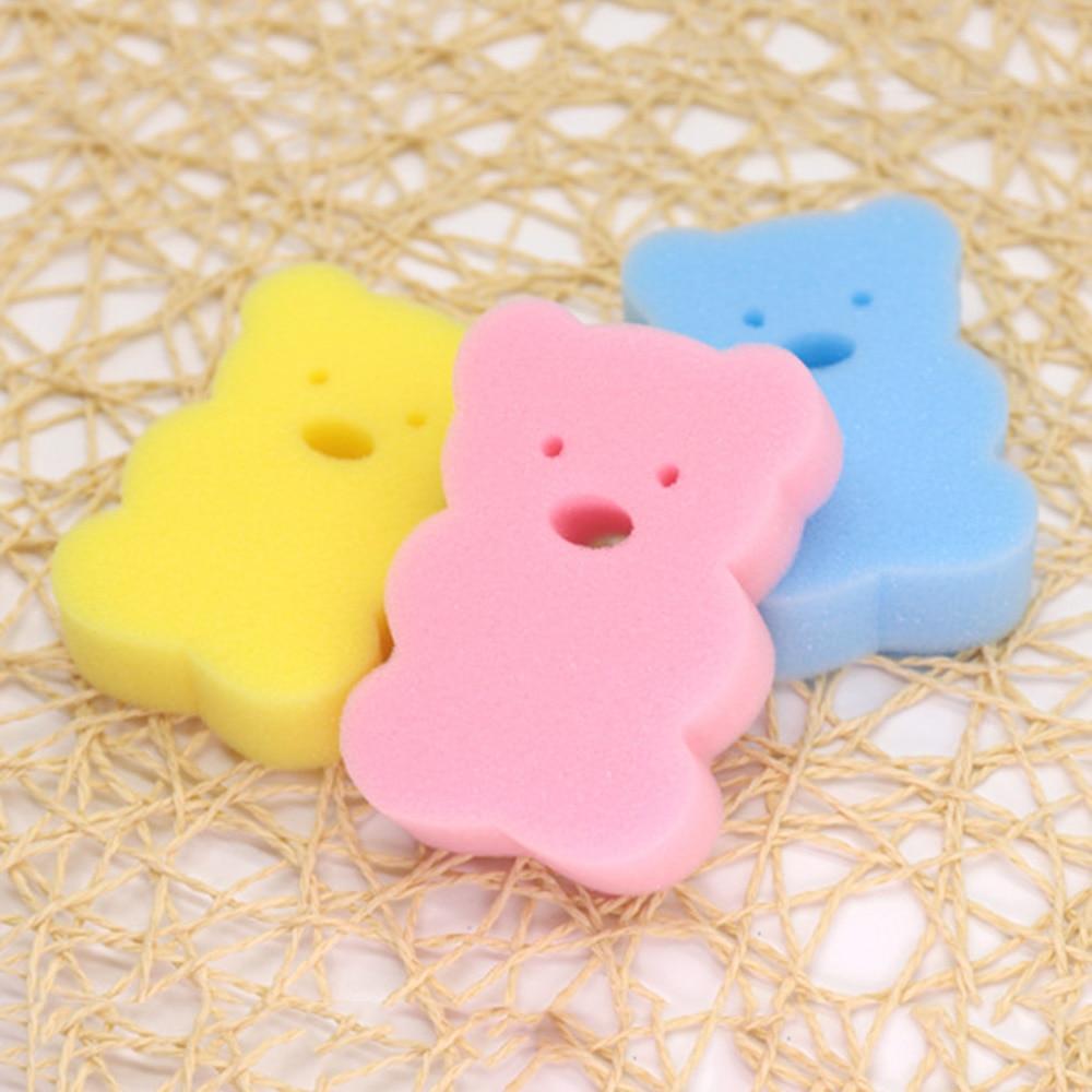 3pcs Cute Newborn Baby Shower Bath Sponge Rub Infant Toddle Kids Bath Brushes Cotton Rubbing Body Wash Towel Accessories