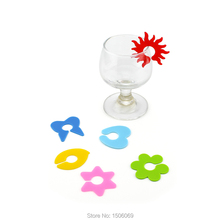 Promotional Party Silicone Wine Glass Markers, Drink Marker 12 PCS  Per Set