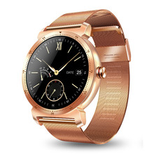 Купить с кэшбэком IPS Round Screen Smart Watch with super chassis iOS Android Heart Rate Monitor  Information Push Fashional Women Watch